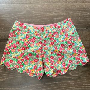 Lilly Pulitzer Scalloped Buttercup Shorts Floral 4